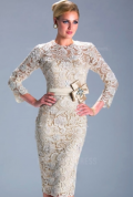 Fab Beauty Dressy: 75% Off Sheath/Column Jewel Bride Dress