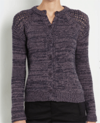 Two-Tone Cashmere Cardi For Only $118