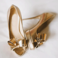 Shoes Pie: 71% Off Golden Bow Peep-toe Platform Heels