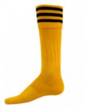 Joyofsocks: 50% Off Striker Gold And Black Cuff Athletic Knee High Socks (Medium)