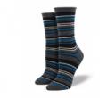 Joyofsocks: 40% Off Charcoal Heather Multi Striped Wool Relaxed Top Socks (Women's)
