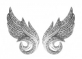 Diamond Delight: 925 Sterling Silver White Diamonds Angel Wing Earring At Just $99.99