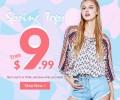 Rose Gal: Spring Tops Desde $9.99
