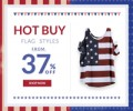 Rose Gal: American Flag Tops, Bikinis & More Accessories From 37% Off