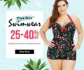 Rose Gal: 25-40% Off Plus Size Siwmwear
