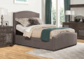 Totally Furniture: 57.56% Off Kerstein Adjustable Cal King Storage Bed Set W/ Rails In Orly Gray Fabric - Hillsdale 1995BCKRAS