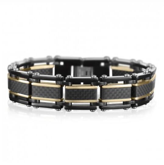 Timepieces USA: Save $120 On Men's Carbon Fiber Bracelet