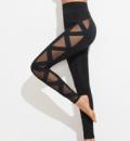 Romwe: Mesh Panel Bandage Leggings