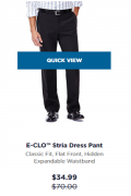 Haggar: 50% Off Stria Dress Pants